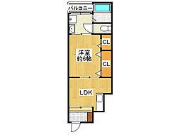 コスモス新今里3丁目II[1階]の間取り