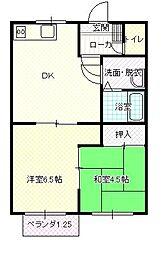 アンソレイエ(ペット飼育可能)[1階]の間取り