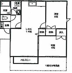 兵庫県姫路市網干区垣内北町の賃貸アパートの間取り