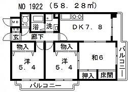 グラン・ピア天王寺[6階]の間取り