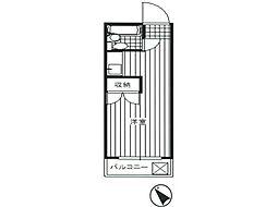 ハイツクールバード[2階]の間取り
