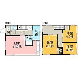 [一戸建] 北海道札幌市厚別区厚別東五条8丁目 の賃貸【/】の間取り