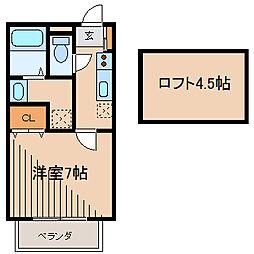 プロムナードデサングレ[2階]の間取り