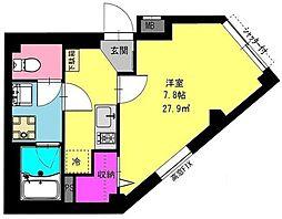 神奈川県横浜市鶴見区本町通1丁目の賃貸マンションの間取り
