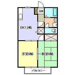 パークサイド宮島[2階]の間取り