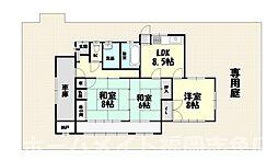[一戸建] 福岡県糟屋郡須惠町大字新原 の賃貸【/】の間取り