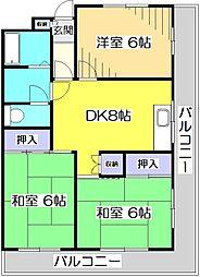 西国分寺山本ビルディング[2階]の間取り