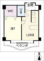 荘苑御園 802号室[8階]の間取り