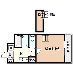 兵庫県芦屋市宮塚町の賃貸マンションの間取り