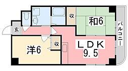 オーセント飯田[402号室]の間取り