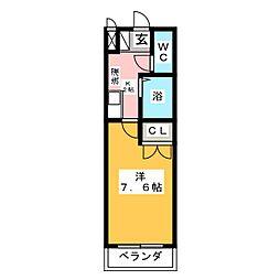 エクセランス御供所2[2階]の間取り