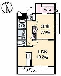 広島県広島市東区中山西2丁目の賃貸アパートの間取り