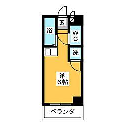 ドール六番町[4階]の間取り