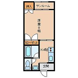 リーブル伏見台[3階]の間取り