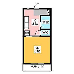 マンションヒバリ[2階]の間取り