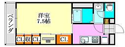 千葉県船橋市中野木1の賃貸アパートの間取り