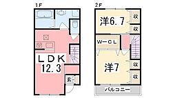 [テラスハウス] 兵庫県加古川市野口町北野 の賃貸【/】の間取り