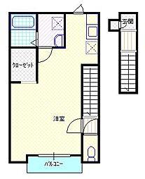 新潟県新発田市城北町2丁目の賃貸アパートの間取り