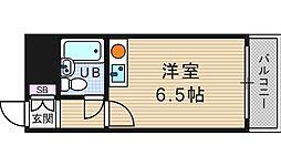 桜川レヂデンス[3階]の間取り