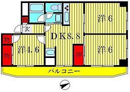 グレイス平成[2階]の間取り