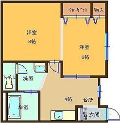 飯山マンション[106号室]の間取り