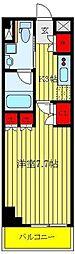 CREVISTA板橋西台II 3階1Kの間取り