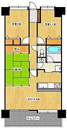 シティオ博多[6階]の間取り