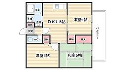 パルカーサ南京都[202号室]の間取り