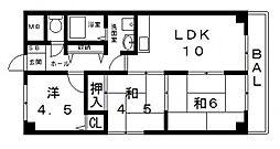 メゾンクレール[201号室号室]の間取り