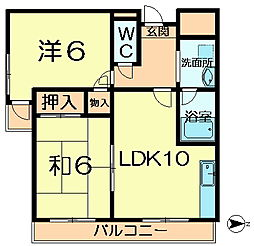 io学園前3[1階]の間取り