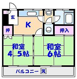 湯浅マンション[402号室]の間取り