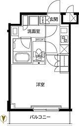 ルーブル東武練馬弐番館 2階1Kの間取り