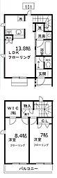 リバティ竹ノ塚[1階]の間取り