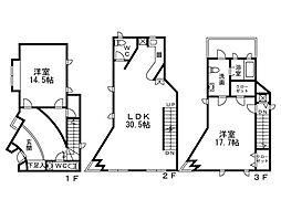 初台二丁目戸建 2階2LDKの間取り