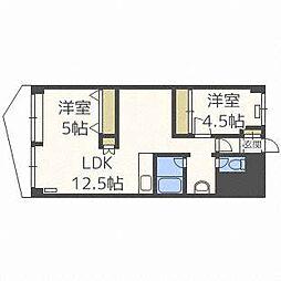 ファミール札幌[5階]の間取り