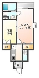 岡山電気軌道東山本線 東山・おかでんミュージアム駅駅 徒歩36分の賃貸アパート 1階1SKの間取り