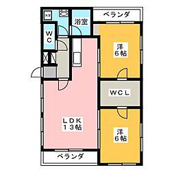 リーラ・コート[2階]の間取り
