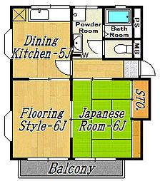 第3フラワーコーポ[2階]の間取り