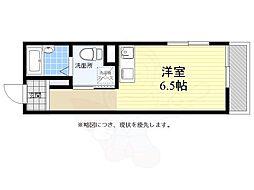 JR中央線 東小金井駅 徒歩3分の賃貸マンション 4階ワンルームの間取り