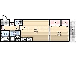 クリエオーレ諸口3[3階]の間取り