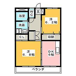 マンション芳舟I II[2階]の間取り