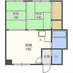 第3マンション幸梅[2階]の間取り