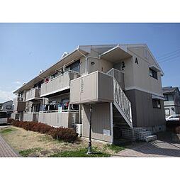 長野県松本市筑摩の賃貸アパートの外観