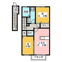 コンフォートK[2階]の間取り