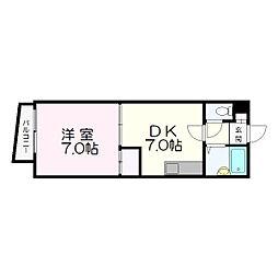 ラ・フォーレ新札幌[403号室]の間取り