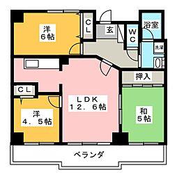 メイツ豊川[2階]の間取り