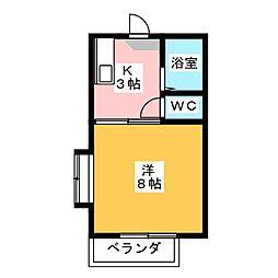 メゾンミカタA[2階]の間取り