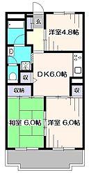 サンハイツ橋本第2[3階]の間取り