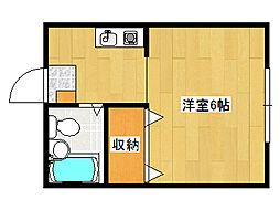 兵庫県神戸市垂水区泉が丘3丁目の賃貸アパートの間取り
