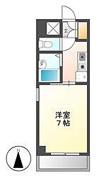 スプリングイセヤマ[6階]の間取り